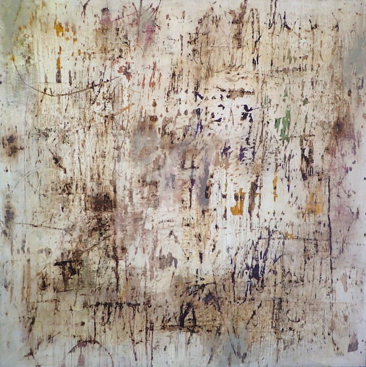 The Social Structures and Ways of Life are Dissolving - Painting,  48x48x2 in, ©2020 by Sio Montera -                                                                                                                                                                          Abstract, abstract-570, Abstract Art