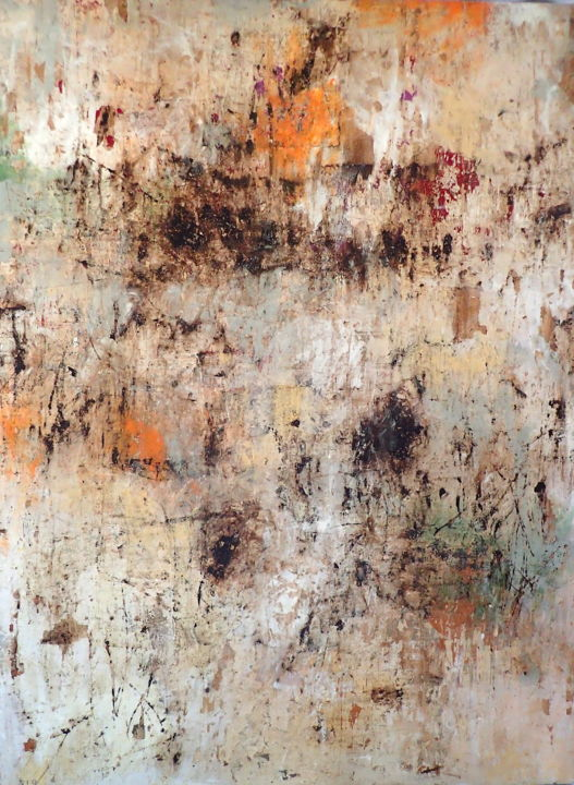 Unpleasant State of Inner Turmoil - Painting,  48x36x2 in, ©2020 by Sio Montera -                                                                                                                                                                          Abstract, abstract-570, Abstract Art