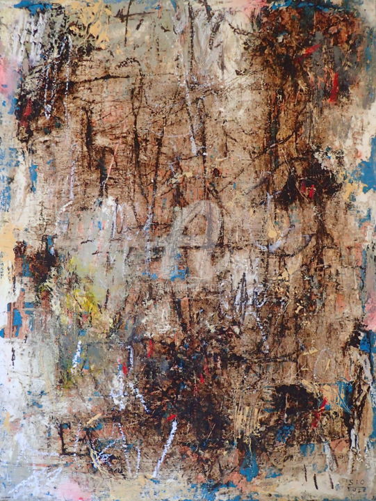 Movements in Isolation 5 - Painting,  24x18.3x2 in, ©2020 by Sio Montera -                                                                                                                                                                          Abstract, abstract-570, Abstract Art