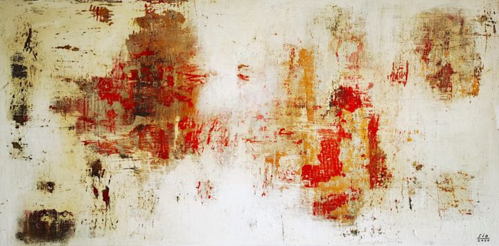 The Blame Game - Painting,  19.7x39.4x2 in, ©2020 by Sio Montera -                                                                                                                                                                          Abstract, abstract-570, Abstract Art