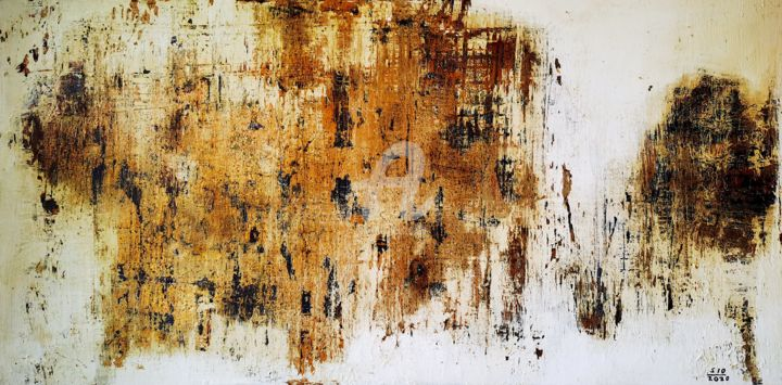 First Came the Crisis - Painting,  19.7x39.4x2 in, ©2020 by Sio Montera -                                                                                                                                                                          Abstract, abstract-570, Abstract Art