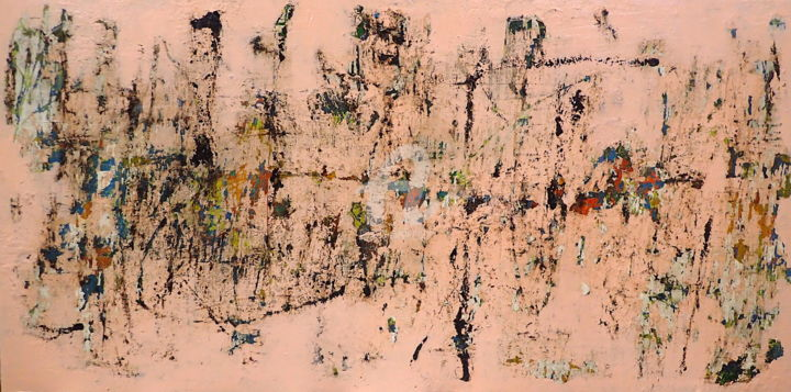 Nothing of the Sort - Painting,  24x48x2 in, ©2020 by Sio Montera -                                                                                                                                                                          Abstract, abstract-570, Abstract Art