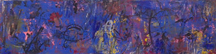 There Are No More Days Except Another Day - Painting,  9.5x37.7x2 in, ©2020 by Sio Montera -                                                                                                                                                                          Abstract, abstract-570, Abstract Art
