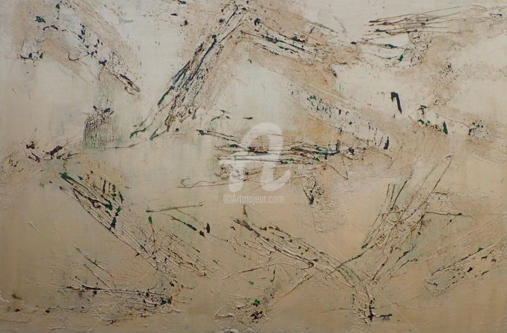An Extended Season of Ennui - Painting,  48x72.1x2 in, ©2020 by Sio Montera -                                                                                                                                                                          Abstract, abstract-570, Health & Beauty