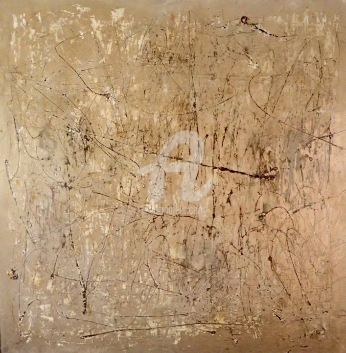 Exposed Collective Failure - Painting,  76.8x76.8x2 in, ©2020 by Sio Montera -                                                                                                                                                                          Abstract, abstract-570, Abstract Art