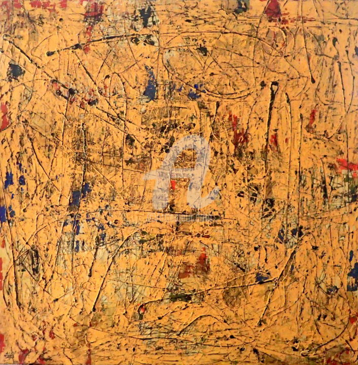 I Do Not Trust the Numbers - Painting,  48x48x2 in, ©2020 by Sio Montera -                                                                                                                                                                          Abstract, abstract-570, Abstract Art