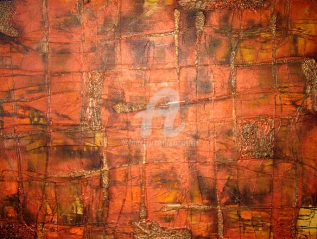 Matter - Painting,  47.6x71.7 in, ©2007 by Sio Montera -