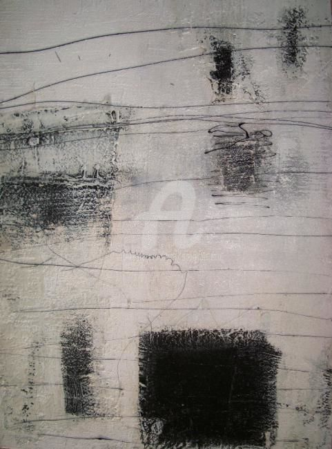 Untitled - Painting,  22.4x16.1 in, ©2008 by Sio Montera -