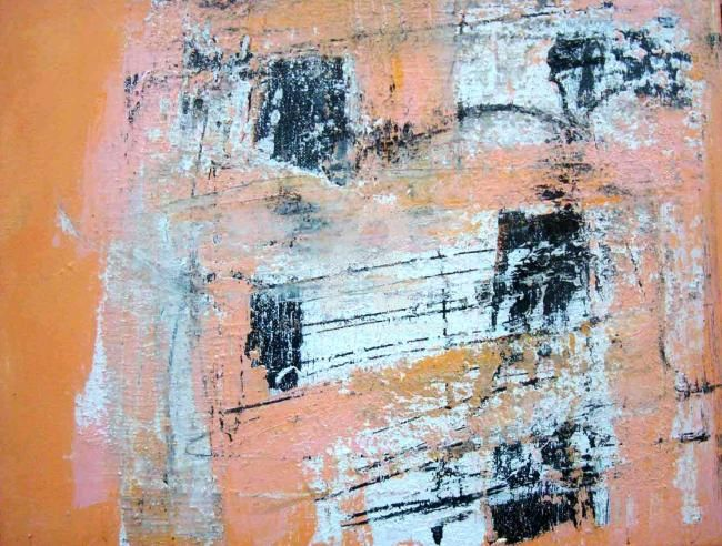Automation Results - Painting,  12x14 in, ©2010 by Sio Montera -                                                                                                                          Expressionism, expressionism-591