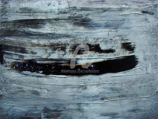 Floating on a Distant Memory - Painting,  30.4x35.5 cm ©2010 by Sio Montera -                        Expressionism
