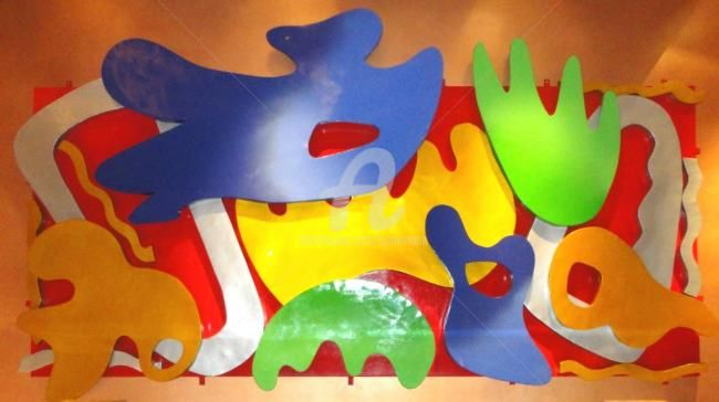Fiesta Senyor - Painting,  80.4x180 in, ©2010 by Sio Montera -                                                                                                                          Abstract, abstract-570