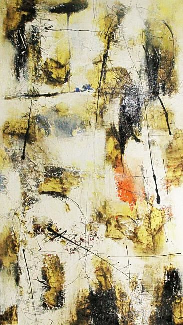 Faux Pas - Painting,  84x48 in, ©2012 by Sio Montera -                                                                                                                          Expressionism, expressionism-591