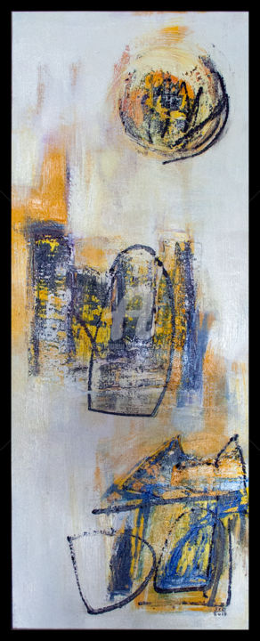 Gateways, Gatekeepers and Getaways - Painting,  114x76 cm ©2015 by Sio Montera -                                                        Abstract Expressionism, Canvas, Abstract Art