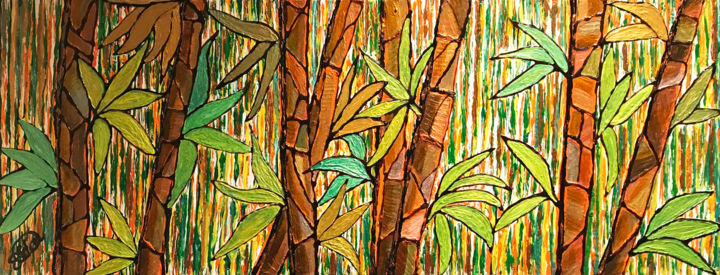 """Painting titled """"Lucky Bamboo"""" by Sir Don, Original Art, Acrylic"""