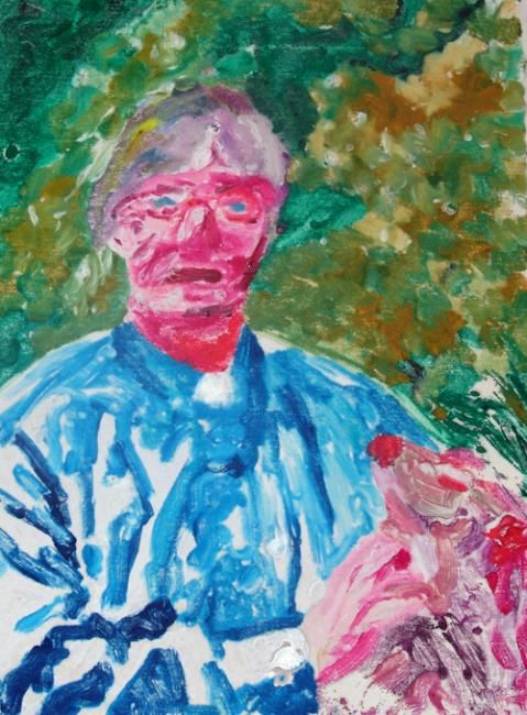 """Painting titled """"Janet Edwards on Tr…"""" by John Toxey, Original Art,"""
