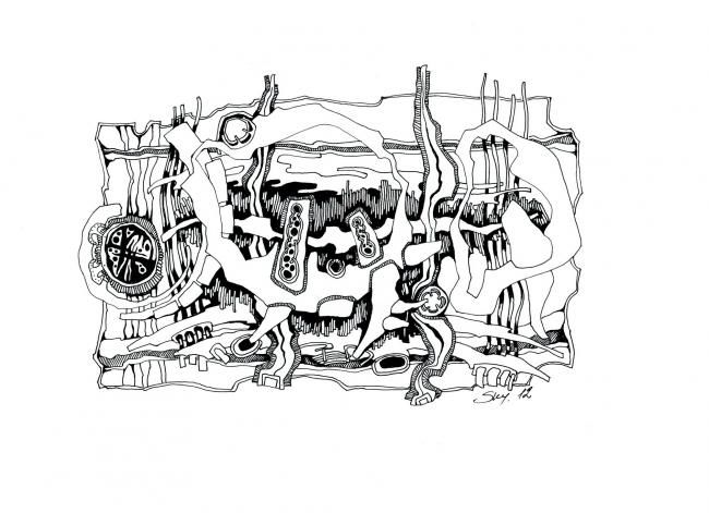 Drawing,  30 x 20 cm ©2012 by S.ky -  Drawing