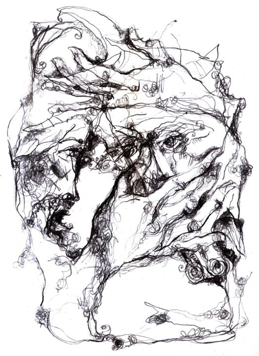 mythological stories-4 - Drawing,  30x21 cm ©2013 by Slav Krivoshiev -            graphic pictures