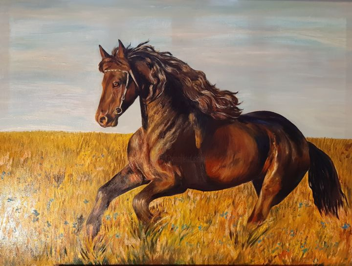 """Painting titled """"Fresh air"""" by Jekaterina Belova, Original Art, Oil Mounted on Stretcher frame"""