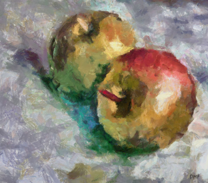 """Painting titled """"Last Year's Apples"""" by Dragica Micki Fortuna, Original Art, Oil"""