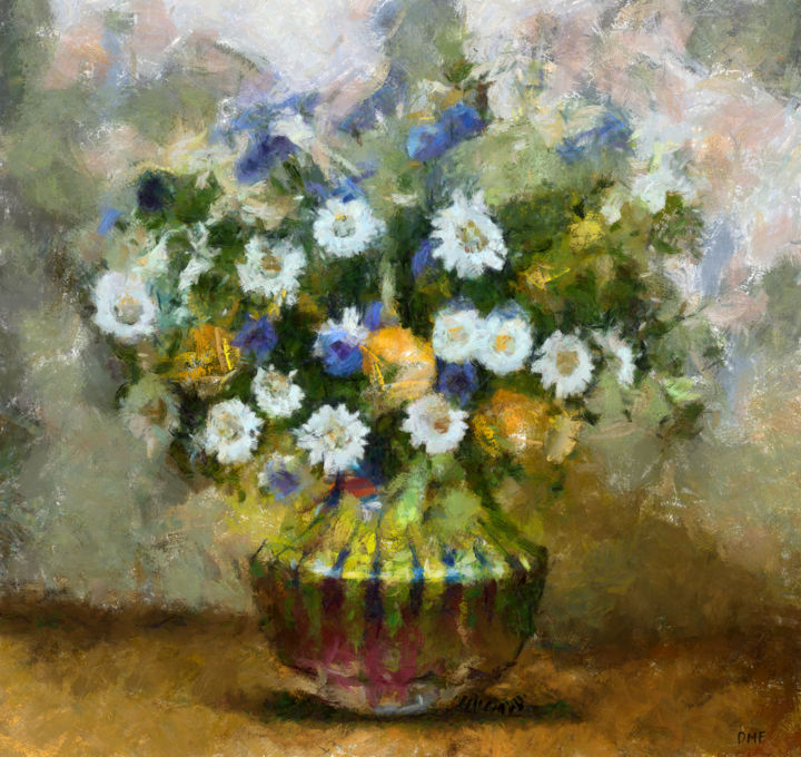 """Painting titled """"Bouquet of Wildflow…"""" by Dragica Micki Fortuna, Original Art, Oil"""