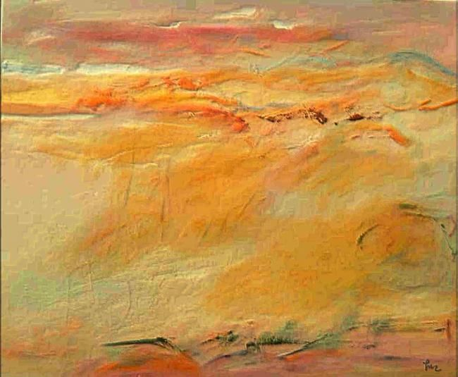 abstract landscape I - Painting,  21.7x23.6 in, ©2010 by Dragica Micki Fortuna -                                                                                                                                                                          Abstract, abstract-570, abstract landscape