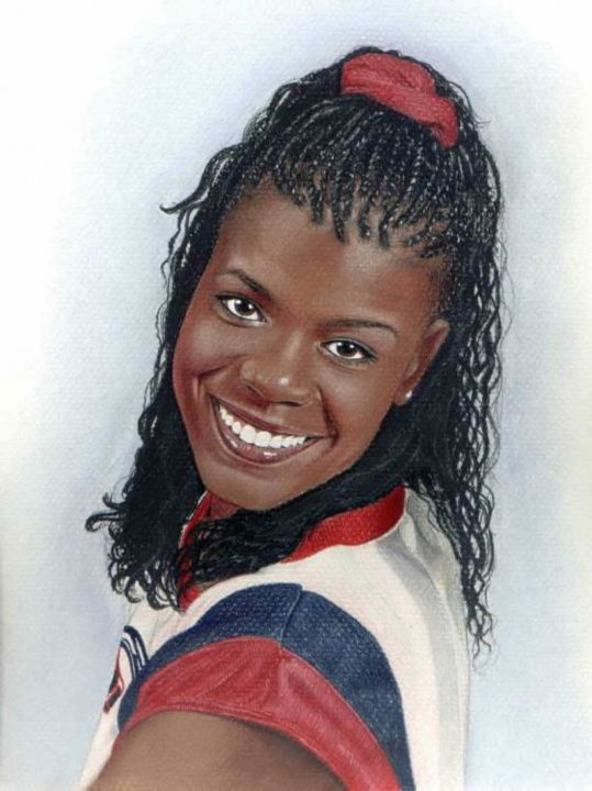 """Drawing titled """"Sheryl Swoopes of W…"""" by Sherrie Kostura, Original Art,"""