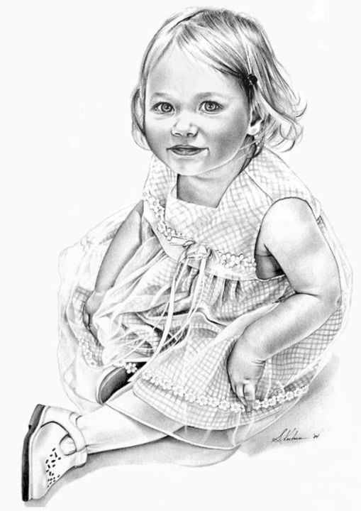 """Drawing titled """"Isabelle"""" by Sherrie Kostura, Original Art,"""