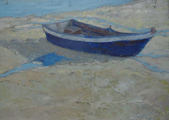 """Painting titled """"Boat IV"""" by Sloba Pajkovic, Original Art, Oil"""