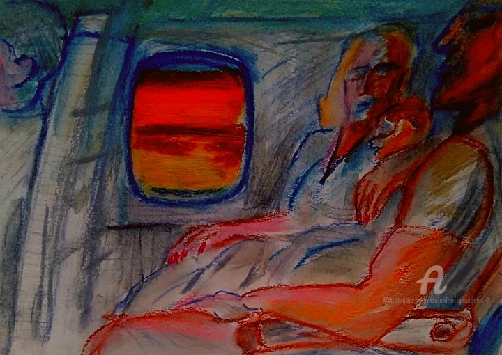 """Painting titled """"Bien situe mr.Smith…"""" by Spaki, Original Art, Pastel"""