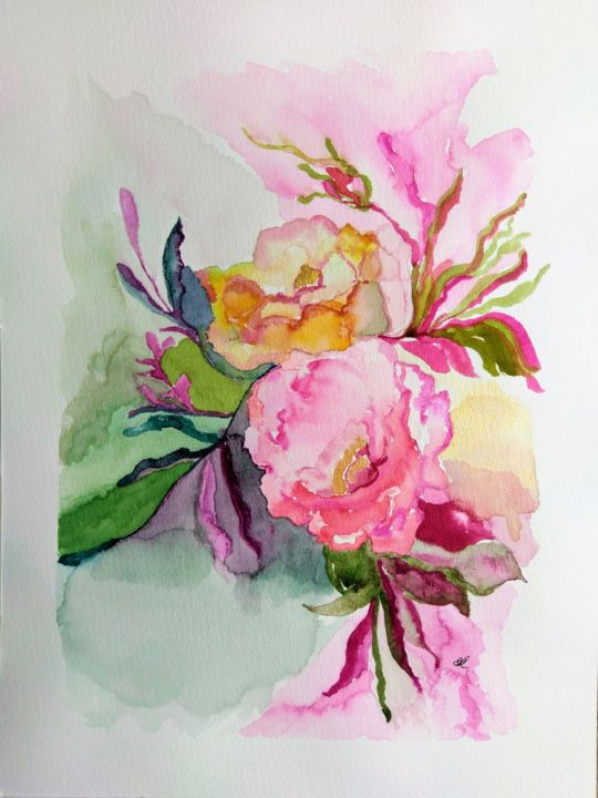 Kiss From A Rose Painting By Sofie Papadopoulou Artmajeur