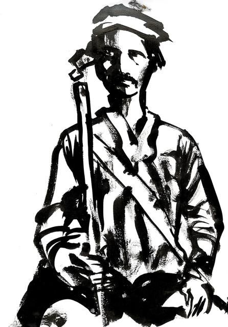 Indien1 - Drawing, ©2007 by Sojo -