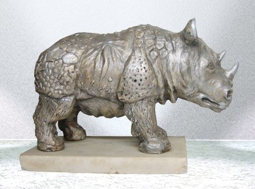 носорог - Sculpture,  12x16x24 cm ©2012 by Solby -