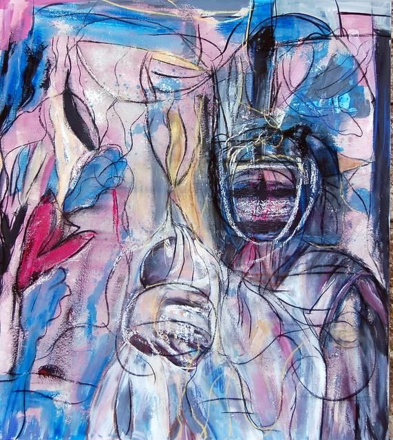 S/TITULO - Painting,  150x170 cm ©2008 by Soledad Fernandez -