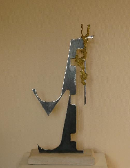 """Sculpture titled """"COULURE"""" by Somm, Original Art, Metals"""