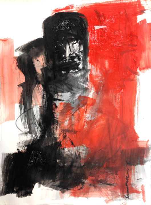 """Painting titled """"Untitled...."""" by Somnath Singh, Original Art, Acrylic"""