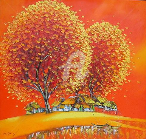 """Painting titled """"Magnificent  Orig p…"""" by Son Nguyen Minh, Original Art, Oil"""
