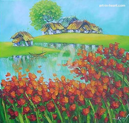 """Painting titled """"Place peace  orig o…"""" by Son Nguyen Minh, Original Art, Oil"""
