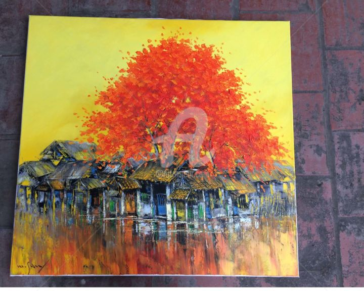 """Painting titled """"Blooming brilli - O…"""" by Son Nguyen Minh, Original Art, Oil"""
