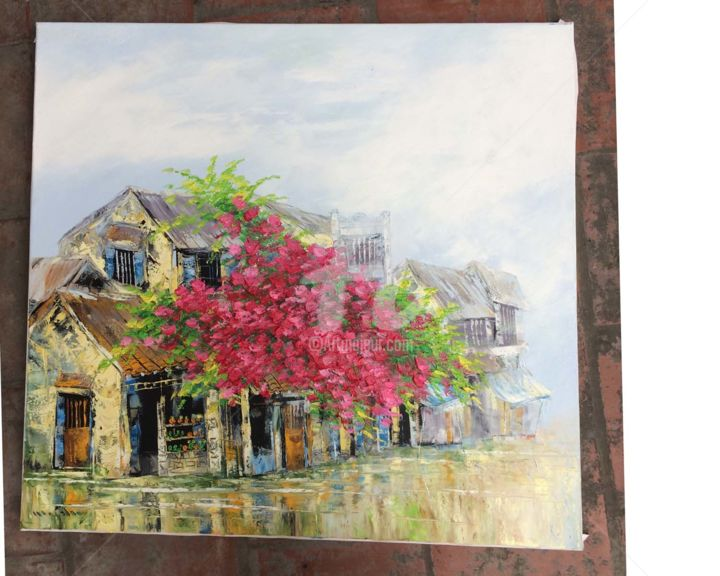 """Painting titled """"Sunshine poured in…"""" by Son Nguyen Minh, Original Art, Oil"""