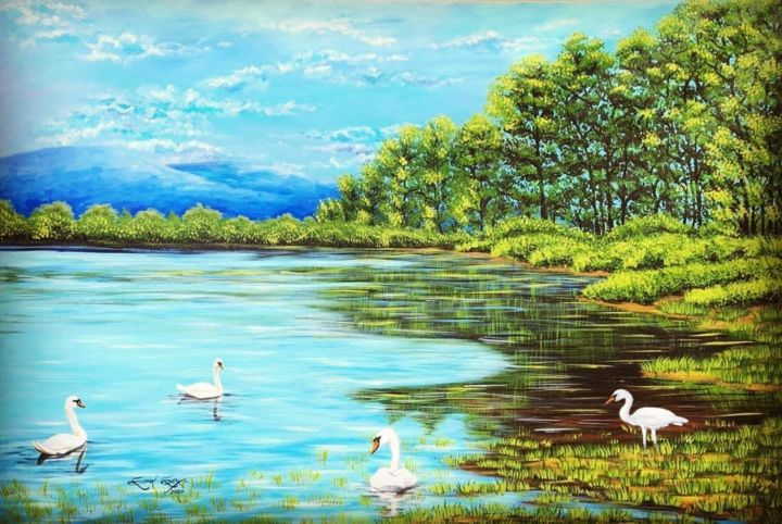 """Painting titled """"Save The Earth"""" by Soma Sen, Original Art, Acrylic"""