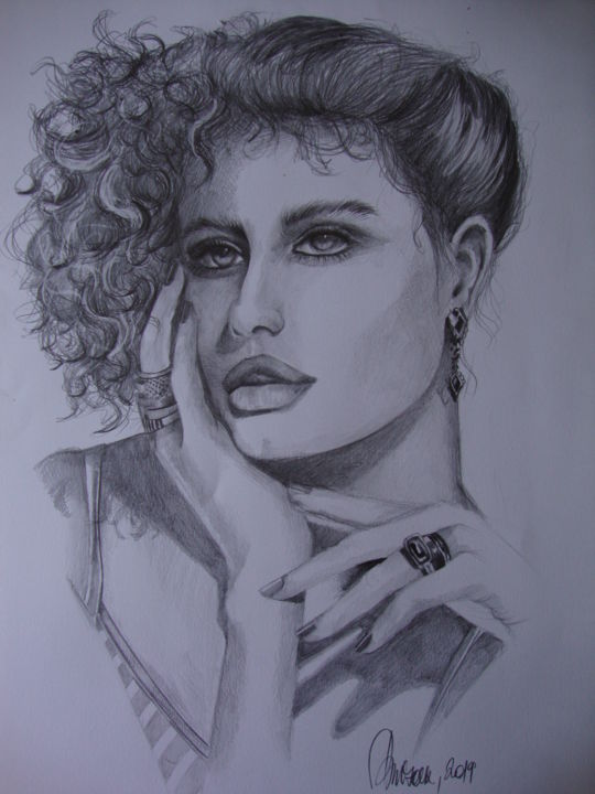 """Drawing titled """"DREAMING"""" by Sonja Brzak, Original Art, Pencil"""