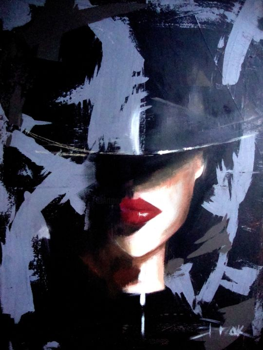 """Painting titled """"IN THE SHADOW II"""" by Sonja Brzak, Original Art, Acrylic"""