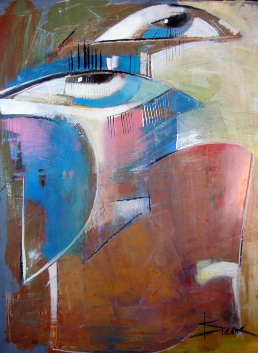 """Painting titled """"SILENCE III"""" by Sonja Brzak, Original Art, Oil"""