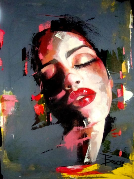 """Painting titled """"PASSION"""" by Sonja Brzak, Original Art, Oil"""