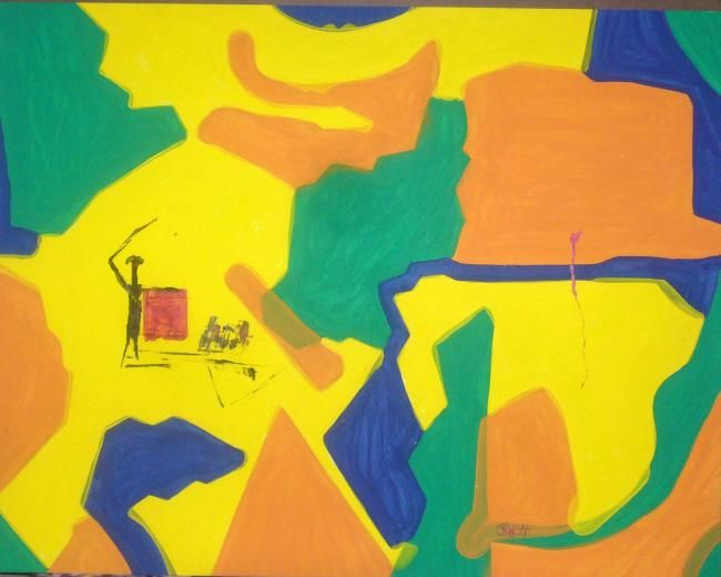 """Painting titled """"fight"""" by Sonofmatisse, Original Art,"""