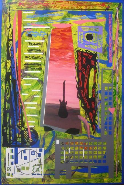 """Painting titled """"face of rock"""" by Sonofmatisse, Original Art,"""