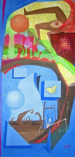 """Painting titled """"Call it Anything"""" by Sonofmatisse, Original Art,"""