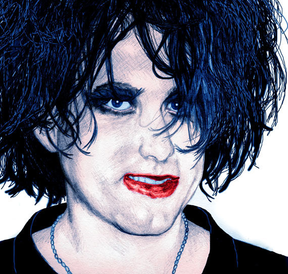 """Printmaking titled """"Robert Smith 1996"""" by Sootycure, Original Art,"""