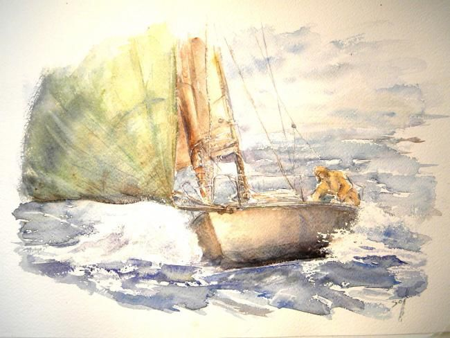 voile 7 - Painting, ©2009 by Argane Sopher -