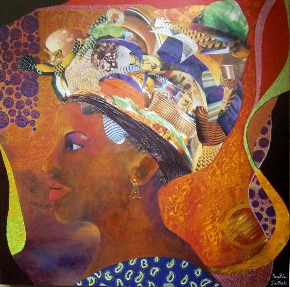 Mayeni - Collages, ©2018 by Sophie Jallet -                                                                                                                                                                          Figurative, figurative-594, Women
